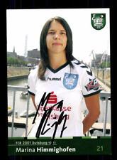 Marina Himmighofen Autogrammkarte FCR Duisburg 2010-11 Original Signier+A 170285