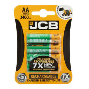 JCB Rechargeable AA Batteries - 2400mAh - Pack of 4 - S5350