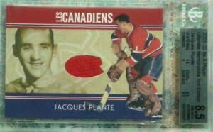 Jaques Plante 2001-02 BAP Ultimate Memorabilia Les Canadiens Game Jersey  /40