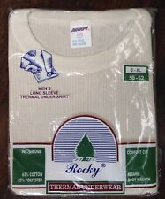 Rocky Thermal Underwear Long Sleeve Shirt Waffle Men's 2XL 50-52 NOS Vintage.