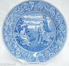 """Spode Blue Room Collection The Woodman 10.5"""" Dinner Plate Made in England"""