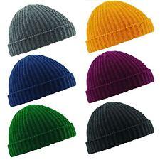 Unisex Men Women Beanie Hat Warm Ribbed Winter Turn Ski Fisherman Docker Hat New