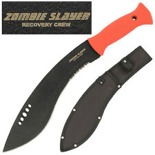 WICKED Zombie Slayer Recovery Crew Apocaylpse Kukri Machete Knife- Blood Red