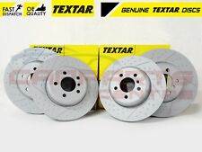FOR BMW 330d M SPORT FRONT REAR COATED CROSS DRILLED TEXTAR BRAKE DISCS 2012-
