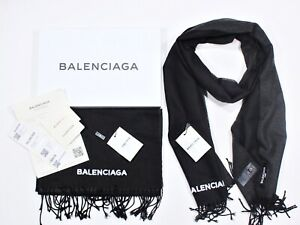 NEW Scarf with Fringe & Embroidery BLCG black FREE Express Shipping