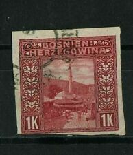 Bosnia and Herzegovina - 1906 ☀ Imperforated stamp 1k Used