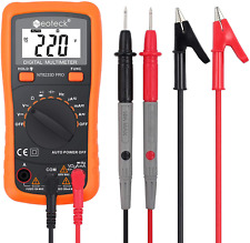 Multi Digital Fluke Meter Volt Tester Ohm Ac Dc Backlit Lcd Display Auto Ranging