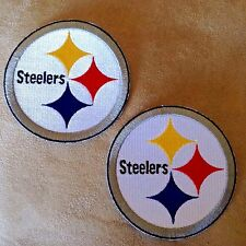 """2-PITTSBURGH STEELERS 3.5"""" Team Logo Iron-on NFL Jersey PATCHES! Steeler Nation"""