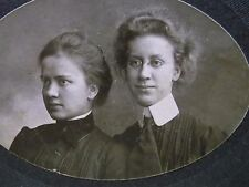 Antique Cabinet Photo-Ladies,Sisters,Glasses,Hair,Fashion-ID'd Stokes-Phila,PA