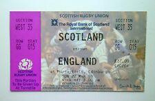 RUGBY UNION FIVE NATIONS MEMORABILIA Ticket Stub Scotland v England 22/03/98 #A