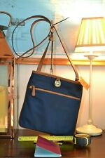 MICHAEL KORS bag NEW + TAGS KEMPTON  CROSSBODY travel NAVY CANVAS SHOULDER TOTE