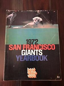 1972 Official San Francisco Giants Vintage Yearbook Willie Mays McCovey Bonds