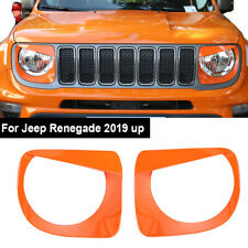 Front Light Headlight Lamp Angry Eyes Trim Cover For Jeep Renegade 2019+ Orange