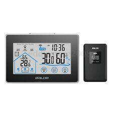 BALDR Touch Screen Wireless Weather Station In/Out  Thermometer Time Clock Meter