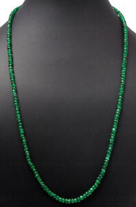 Emerald Natural Genuine Precious Gemstone Faceted Bead Necklace @ Free Ship