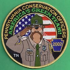 "Pa Fish Game Commission NEW Conservation Officers COPA 2002 Ollie Otter 6"" Patch"