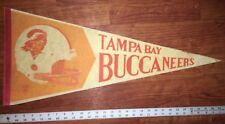 2eb8408d8 Vintage NFL TAMPA BAY BUCCANEERS Football PENNANT Flag BUCS BUCKS LARGE 30  INCH