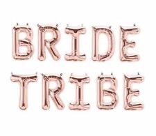 """BRIDE TRIBE 16"""" Rose Gold Letter Balloons - UK Seller"""