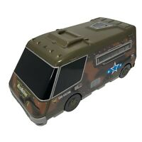 GALOOB MICRO MACHINES CITY ARMY VAN MILITARY PLAY-SET FOLD OUT CAMO GREEN TRUCK