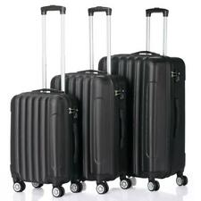 3 Pcs Luggage Travel Set Bag ABS Trolley Suitcase w/TSA Lock Black