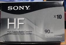 Sony C-90HFR Cassette 10 Pack NEW! NEW! 90 Min Sealed Blank High Fidelity Tapes!