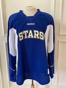 Reebok Edge Texas Stars Pro Stock Practice Jersey Size 56 Royal Blue 7338