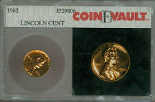 1962 LINCOLN CENT COIN VAULT 1ST GENERATION COIN VAULT PHOTOSLAB PROOF *