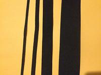"3/8"",1"",1-1/4"",1-1/2"",1-3/4"",2"",2-1/2"",3"" inch width BLACK flat elastic band"