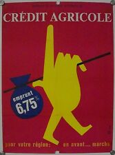 Affiche CREDIT AGRICOLE - EMPRUNT 6,75% illustr. SVAN
