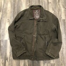 AMERICAN EAGLE Outfitter Mens Military Style Jacket Size XL Canvas  Fur Lined