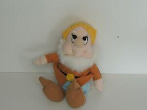 Used Disney Happy Dwarf Plush Teddy 27cm tall