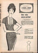 ▬► Patron Couture Supplément Écho de la Mode Robe passe-partout T48 N°43 1960