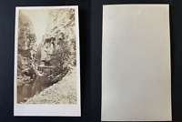 Gorges à identifier Vintage albumen print CDV.  Tirage albuminé  6,5x10,5