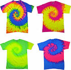 Tie Dye T Shirts New Fluorescent Spiral Variation Size sz Youth XS to Adult 3XL