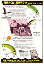 1948 Vintage ads Wright McGill Fishing Lures & Evinrude Outboard Motors 2 Sided