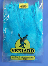 Truthahn Marabou 20 Federn Veniard Turkey Marabou large Teal Blue