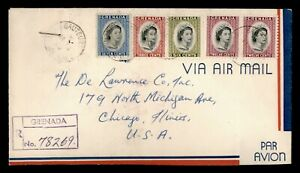 DR WHO 1966 GRENADA SAUTEURS REGISTERED AIRMAIL TO USA  f82914