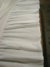SIMPLY SHABBY CHIC White Gathered  Cotton Bedskirt - Queen