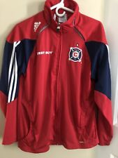 Adidas Chicago Fire Soccer Team Jacket Men's Size X-Small Zip Up Best Buy