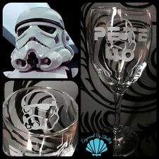 Star Wars Stormtrooper Wine Glass Unique Gift! FREE Name Engraving Personalised!