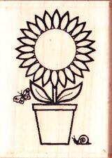 SMALL SUNFLOWER - Wood Mounted Rubber Stamp - Personal Impressions