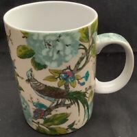 Listing (1) World Market Peacock Bird Teal Ceramic Coffee Mug Tea Cup.