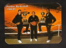 Purdue Boilermakers--1988-89 Basketball Pocket Schedule--Follett's