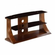 """Jual Furnishings Curved Walnut TV Stand 40""""-50"""" JF201-1100 110cm Free Delivery"""