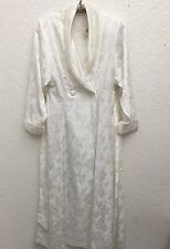 Vintage Victoria's Secret Bridal Robe Satin/Pearls Antique White W/Tags Small