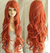 New wig Cosplay Heat Resistant Cos orange red color long curly wig  Q25