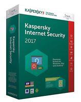 Kaspersky Internet Security 2017 (1 - 5 PCs für 1 Jahr)
