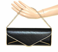 a5656661c58bc POCHETTE ORO NERA donna dorata borsello borsa elegante da sera bag sac  bolsa A44