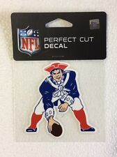 "New England Patriots 4"" x 4"" Retro Logo Truck Car Window Die Cut Decal Color"