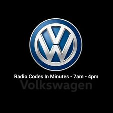 VW RCD510 Radio Code